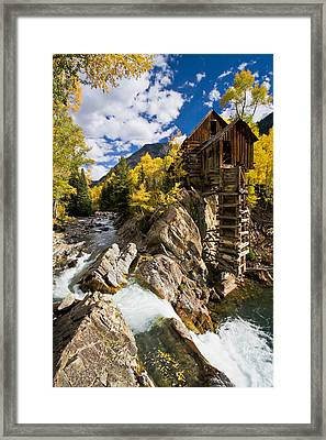 The Crystal Mill Framed Print by Guy Schmickle