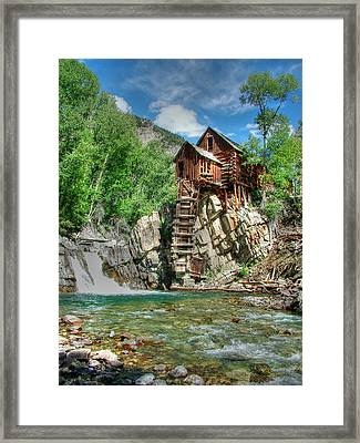 The Crystal Mill In Crystal Colorado Framed Print by Ken Smith