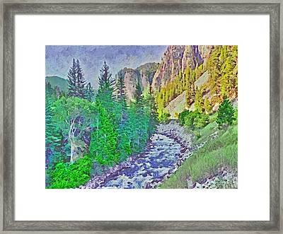 The Crystal River Around Redstone Colorado Framed Print