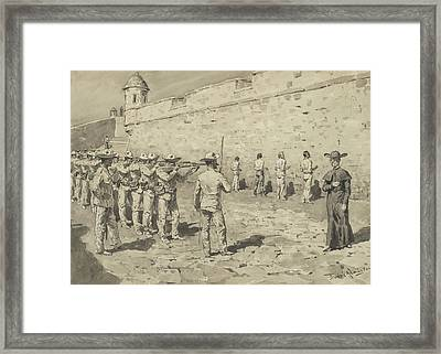 The Cuban Martyrdom Framed Print by Frederic Remington