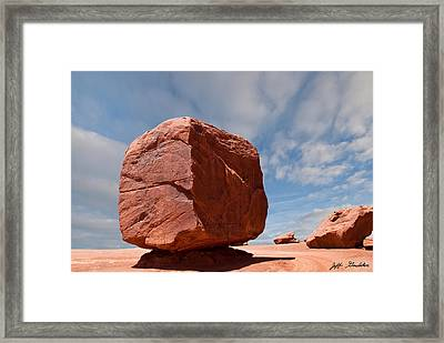 The Cube At Monument Valley Framed Print