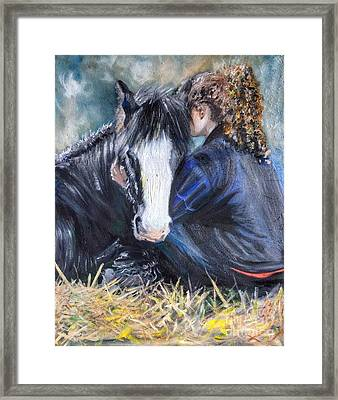 The Cuddle Framed Print