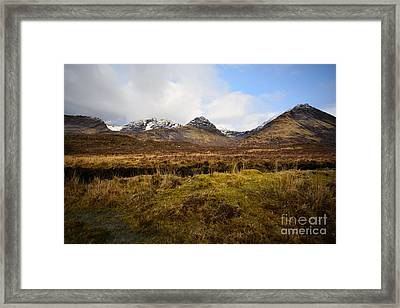 The Cuillins Framed Print by Nichola Denny