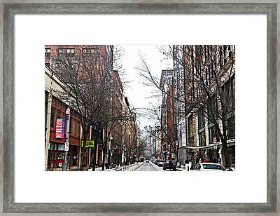 The Cultural District Framed Print by Melinda Dominico