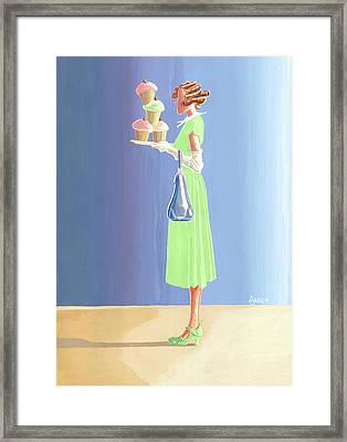 The Cupcake Lady Framed Print