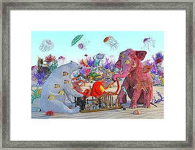 The Curious Game Hc Framed Print by Betsy Knapp