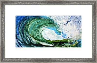 Framed Print featuring the painting The Curl by Joan Hartenstein