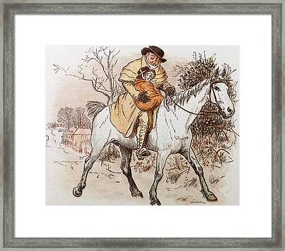 The Curmudgeons Christmas  Horse Riding  Framed Print
