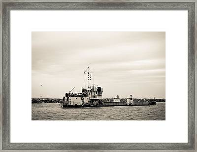 The Currituck In Sepia Framed Print by Colleen Kammerer
