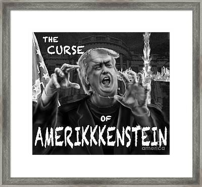 The Curse Of Amerikkenstein Framed Print