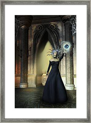 The Curse Of The Sorceress Framed Print by Emma Alvarez