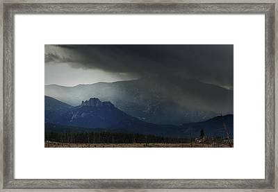 The Curtain Draws Framed Print by Brian Gustafson