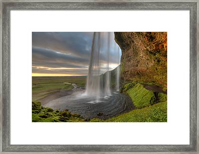 The Curtrain Framed Print