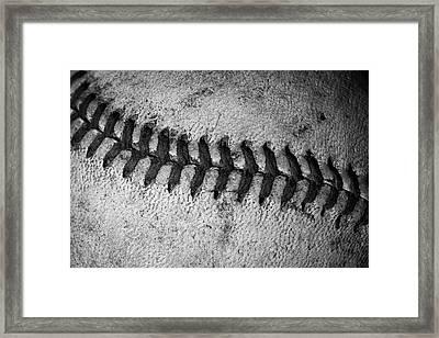 The Curve Ball Framed Print