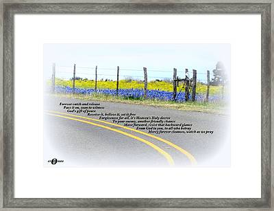 Freedom Around The Bend Framed Print by David  Norman
