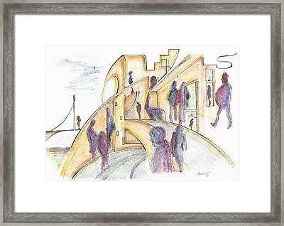 The Curves Of The Streets, 18 June, 2015 Framed Print