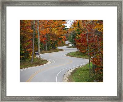 The Curvy Road Framed Print