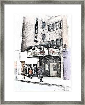 The Curzon Cinema Chelsea London Uk Framed Print by Alan Armstrong