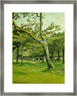 The Customs Hut In The Morning Framed Print by Claude Monet