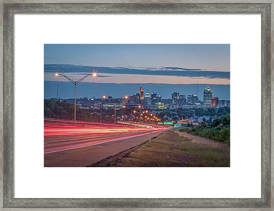 The Cut In The Hill Framed Print