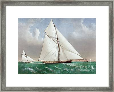 The Cutter Genesta Framed Print by Currier and Ives