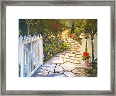 The Cutting Garden Framed Print