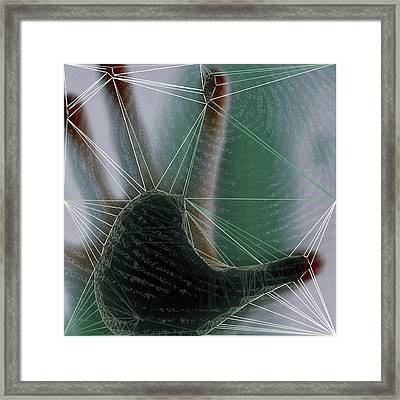 The Cybercriminals Web Of Deceit Framed Print by ISAW Gallery