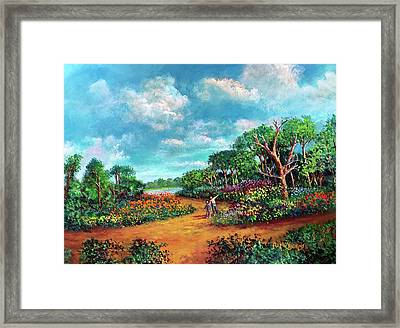 Framed Print featuring the painting The Cycle Of Life by Randol Burns