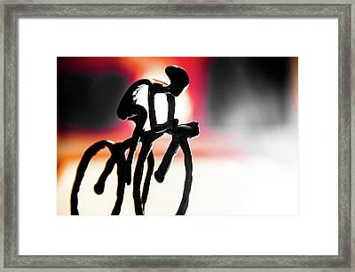 The Cycling Profile  Framed Print
