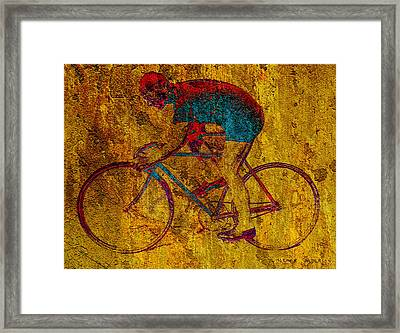 The Cyclist Framed Print by Andrew Fare