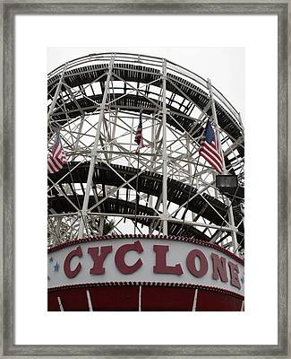 The Cyclone At Coney Island Framed Print