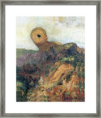The Cyclops Framed Print by Odilon Redon