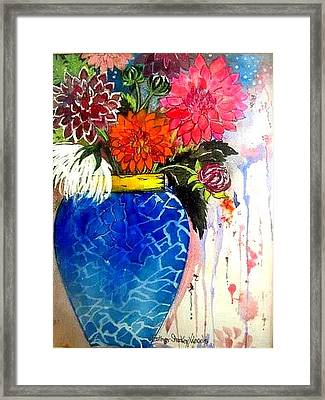 The  Dahlias Framed Print