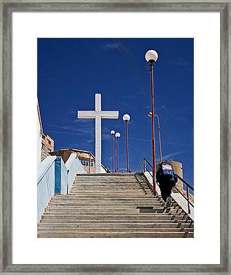 The Daily Climb Framed Print
