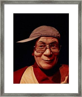 The Dali Lama Wearing My Hat Framed Print by Bill Cannon