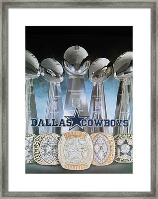 The Dallas Cowboys Championship Hardware Framed Print by Donna Wilson