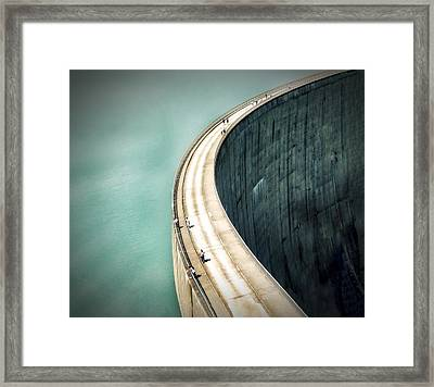 The Dam ... Framed Print by Anna Cseresnjes