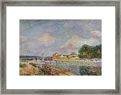 The Dam Framed Print by Alfred Sisley