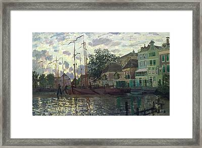 The Dam At Zaandam Framed Print by Claude Monet