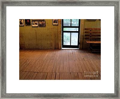 The Dance Hall Floor Framed Print by Leah Cimmelli-Orfini