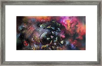 The Dance In The Ocean Framed Print by Arun Sivaprasad