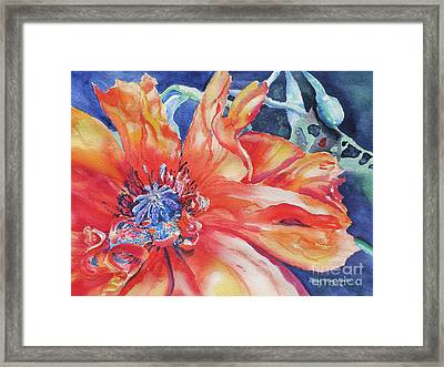 Framed Print featuring the painting The Dance by Mary Haley-Rocks
