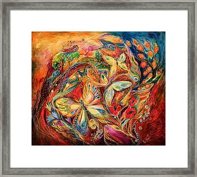 The Dance Of Butterflies Framed Print by Elena Kotliarker