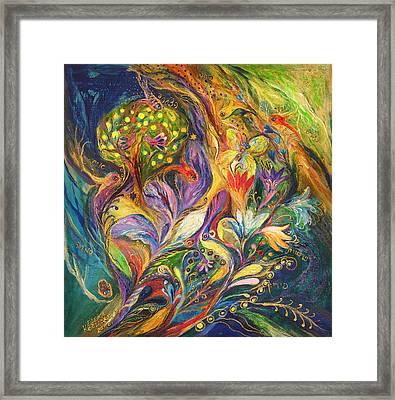 The Dance Of Lilies Framed Print by Elena Kotliarker