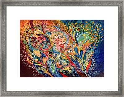 The Dance Of Oranges Framed Print by Elena Kotliarker