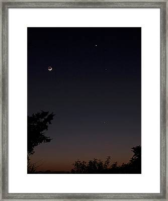 Framed Print featuring the photograph The Dance Of The Planets by Odille Esmonde-Morgan
