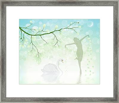 The Dance Of The Swan Framed Print