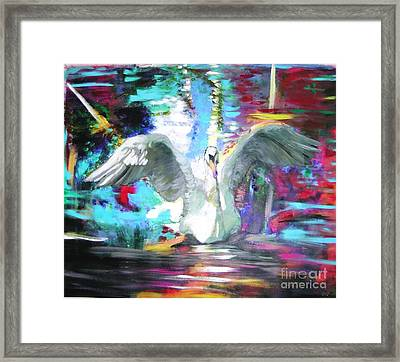 The Dance Of The Swan Framed Print by Marie-Line Vasseur