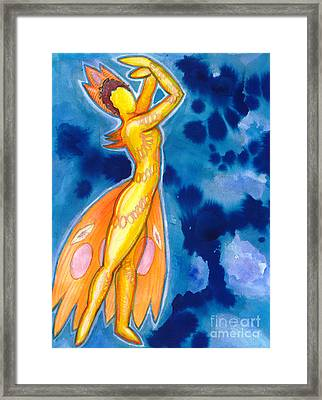The Dancer Becomes The Dance Framed Print by Mark Stankiewicz