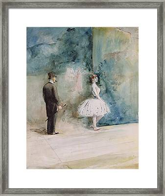 The Dancer Framed Print by Jean Louis Forain